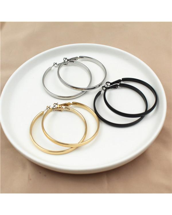 Набор круглых сережек 3 цвета