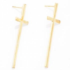 Серьги Кресты, золото
