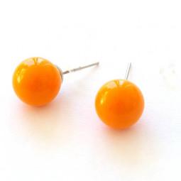 """Серьги гвоздики """"Яркость"""", оранжево-персиковые"""