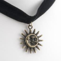"Бархотка чокер  ""Sun and Moon"""