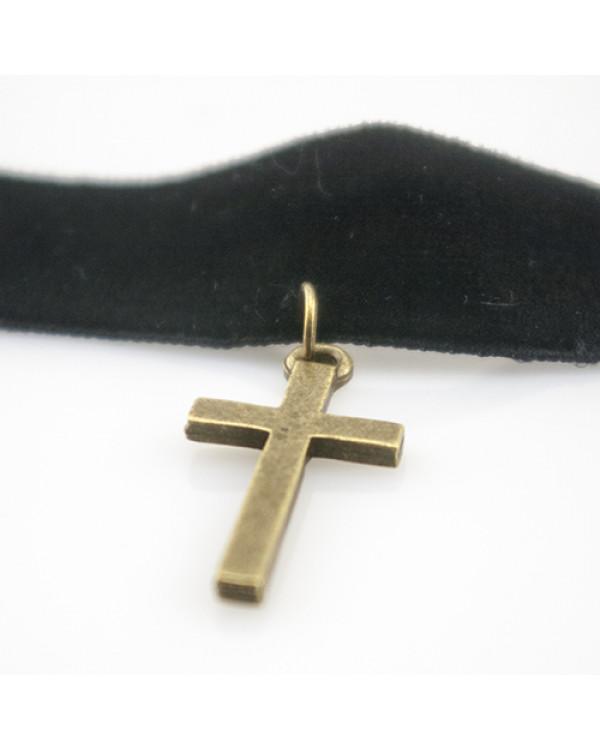 """Колье чокер """"Крест"""" Такая бархотка – замечательное украшение на шею"""