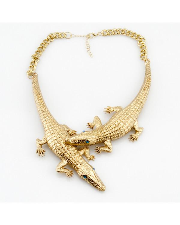 """Колье """"Crocodile"""" Колье крокодил аллигатор купить колье в Киеве так просто с брендом Сорока.Ми"""