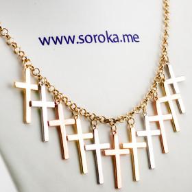 """Колье кресты """"Готика стиля"""""""