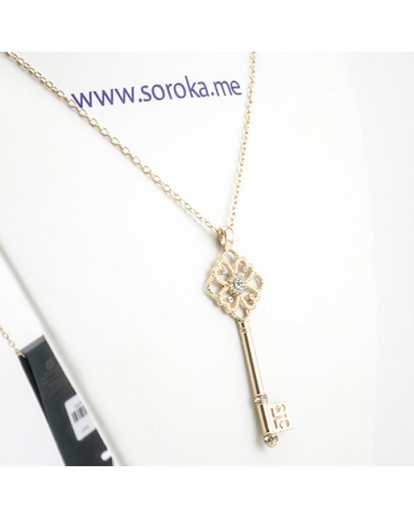 """Кулон """"Ключ"""", золото На кулон цена доступна"""