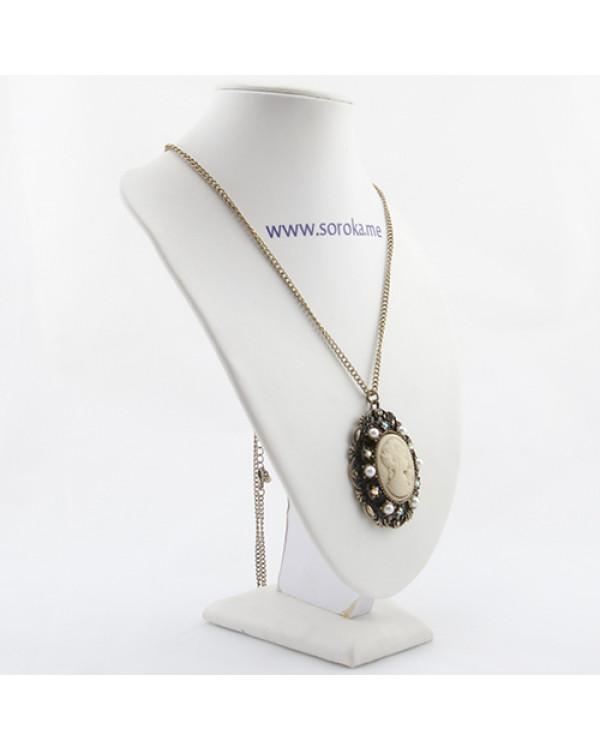 """Кулон винтажный Камея на цепочке """"Cameo"""" - модная бижутерия дешево на Сорока.Ми"""