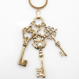 Ожерелье Ключи кулоны счастья