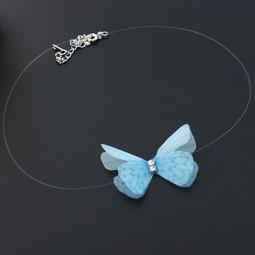 Подвеска колье на леске невидимка бабочка Fly
