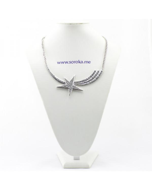 Колье с камнями Звезда - стильное ожерелье бижутерия от Сорока.Ми