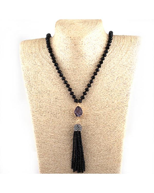 Купить сотуар из бусин с кистью - значит выбрать самое модное украшение сезона!