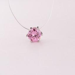 Кристалл на леске Pink