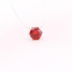 Кулон на леске Красный кристалл