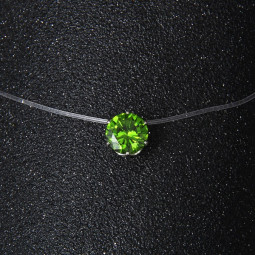 Кулон на леске Невидимка, зеленый