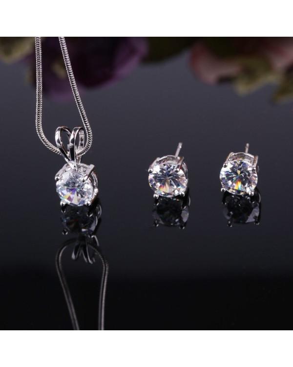 Кулон и пусеты с кристаллами - ювелирная бижутерия от Сорока.Ми недорого!
