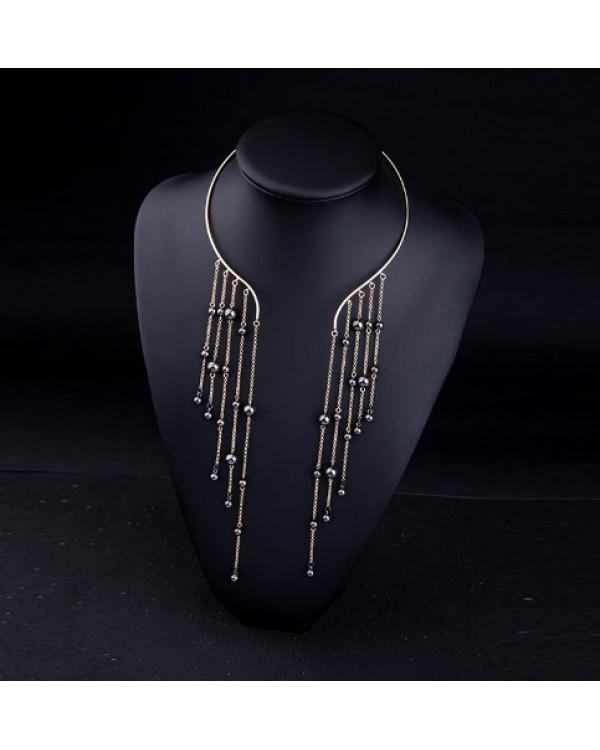 Колье с бусинами - ассиметричное ожерелье купить и блистать в тренде недорого с Сорока.Ми