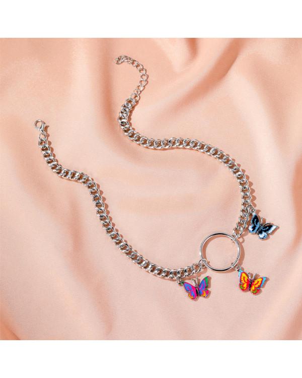 Колье бабочки модное