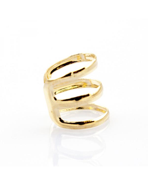 Кольцо-серьга модное украшение 2-в-1