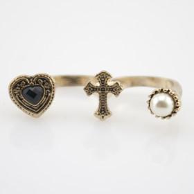 "Кольцо на два пальца ""Gotic fashion line"""