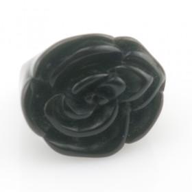 "Кольцо ""Black rose"", 17р Распродажа"