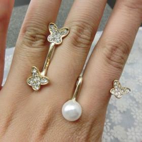 """Кольцо бижутерия """"Pearl Butterfly"""""""