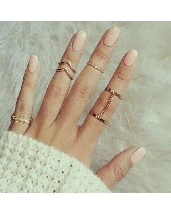 Набор колец на пальцы и фаланги GV gold