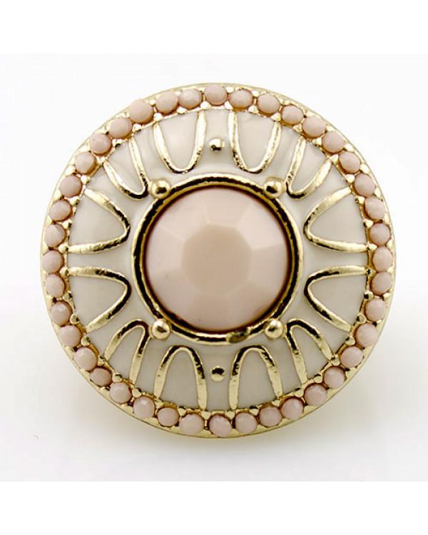Массивное кольцо Pudra  - розовое кольцо бижутерия - недорогая и красивая от Сорока.Ми