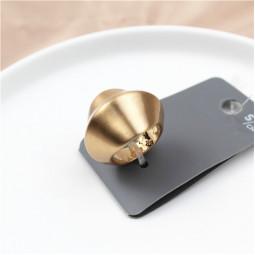 Matte gold кольцо широкое матовое бренд