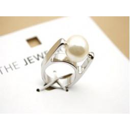 Стильное кольцо бижутерия с жемчужиной