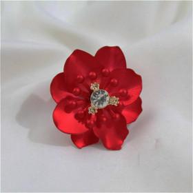 Красное марсала кольцо Цветок