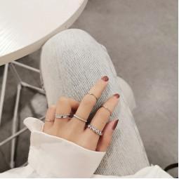 Набор колец 7 шт Silver fashion