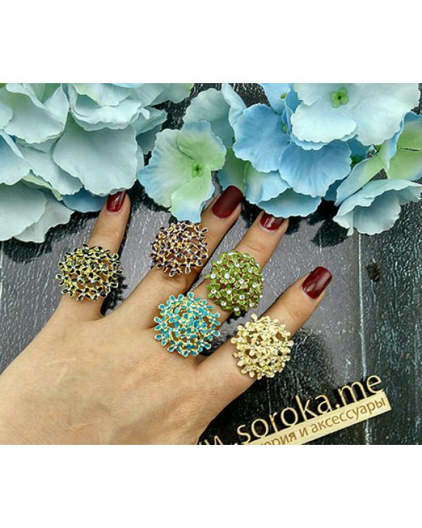 Бижутерия кольцо с эмалью и цветами - купить такое недорого можно на Сорока.Ми