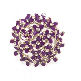 """Кольцо """"Букет"""" фиолет, Распродажа"""