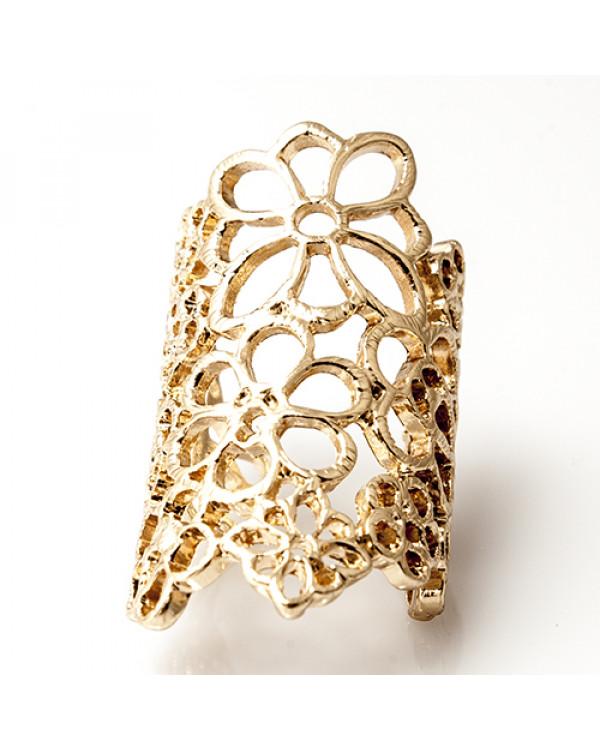 "Широкие кольца ""Кружево"", золото. Магазин Сорока"