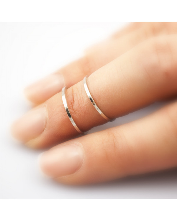 """Кольца тонкие на фаланги """"Мия"""", серебро. Магазин Сорока"""