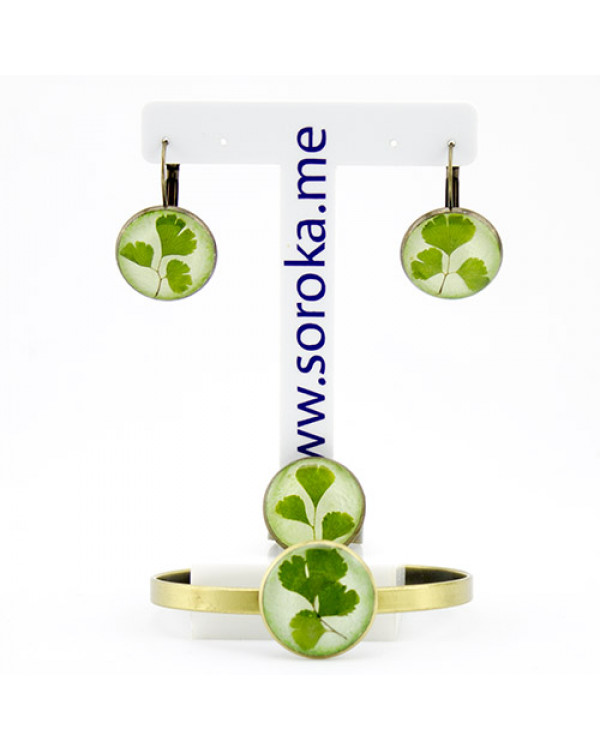 Набор украшений с живыми растениями от украинского дизайнера бижутерии